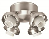 Hunter Brushed Nickel Four-Light Adapter