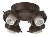 Hunter Cocoa Four-Light Adapter