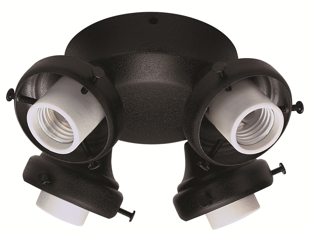Black Four-Light Adapter > The Fan Shoppe | Canada